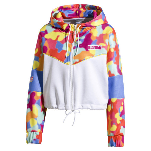 PUMA x BARBIE XTG Women's Track Jacket, Puma White, large
