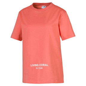Thumbnail 1 of PUMA x PANTONE Tee, Transparent-Living Coral, medium