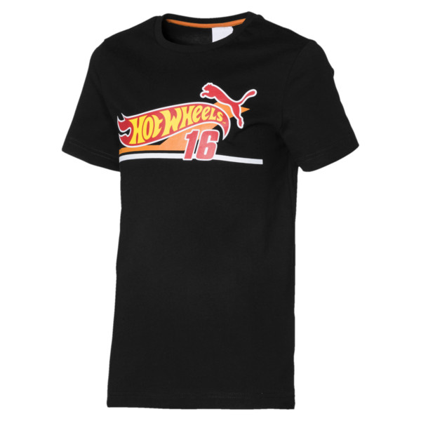 PUMA X HOT WHEELS Boys' Tee, Puma Black, large