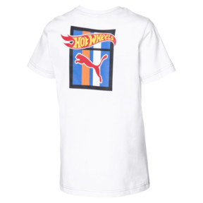 Thumbnail 2 of PUMA X HOT WHEELS Boys' Tee, Puma White-ORIOLE, medium