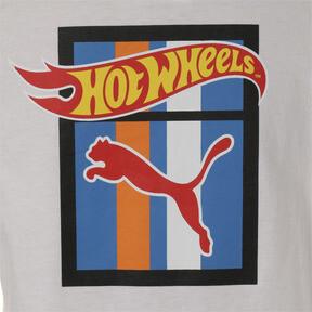 Thumbnail 3 of キッズ PUMA x HOTWHEELS Tシャツ (半袖), Puma White-ORIOLE, medium-JPN
