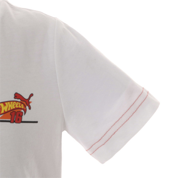 キッズ PUMA x HOTWHEELS Tシャツ (半袖), Puma White-ORIOLE, large-JPN