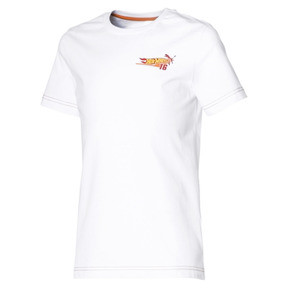 Thumbnail 1 of PUMA X HOT WHEELS Boys' Tee, Puma White-ORIOLE, medium