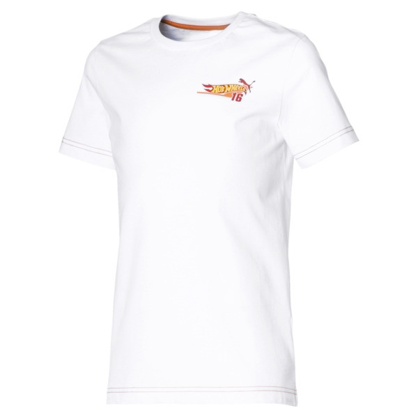 PUMA X HOT WHEELS Boys' Tee, Puma White-ORIOLE, large