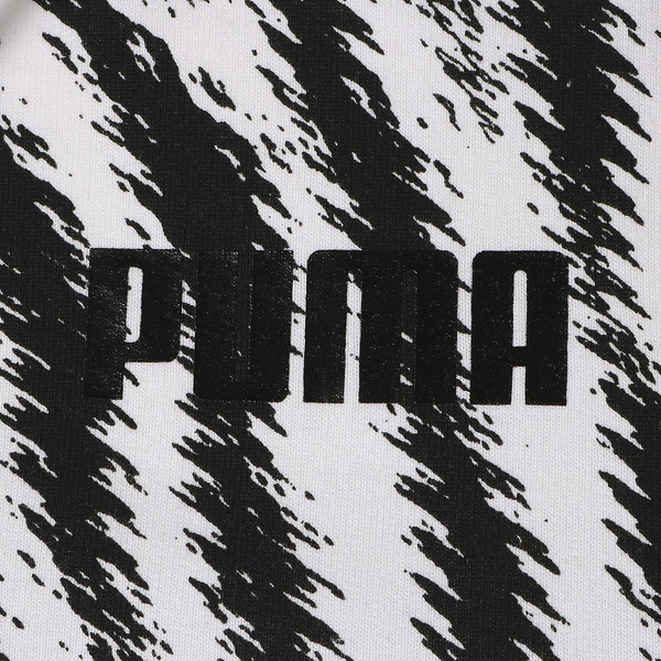 WILD PACK ウィメンズ クロップド AOP フーディ, Puma White-Zebra AOP, large-JPN