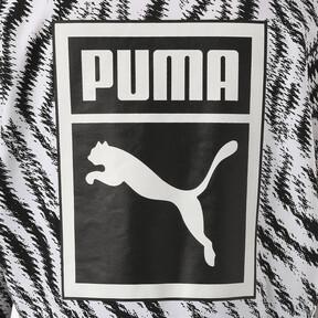Thumbnail 6 of WILD PACK ウィメンズ クロップド AOP フーディ, Puma White-Zebra AOP, medium-JPN