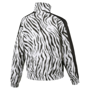Thumbnail 2 of WILD PACK ウィメンズ クロップド ジャケット, Puma White-Zebra, medium-JPN