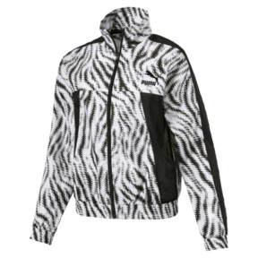Thumbnail 1 of WILD PACK ウィメンズ クロップド ジャケット, Puma White-Zebra, medium-JPN