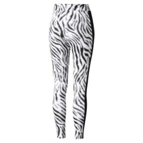 Thumbnail 2 of WILD PACK ウィメンズ レギンス, Puma White-Zebra AOP, medium-JPN