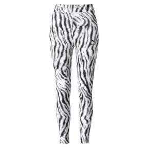 Thumbnail 1 of WILD PACK ウィメンズ レギンス, Puma White-Zebra AOP, medium-JPN