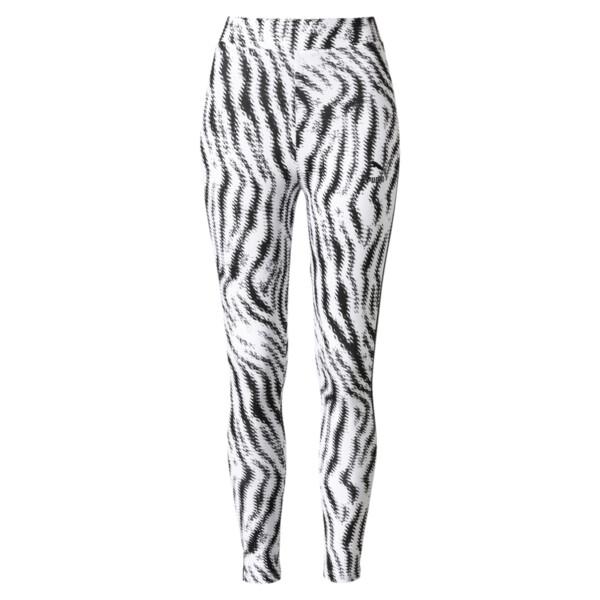 WILD PACK ウィメンズ レギンス, Puma White-Zebra AOP, large-JPN