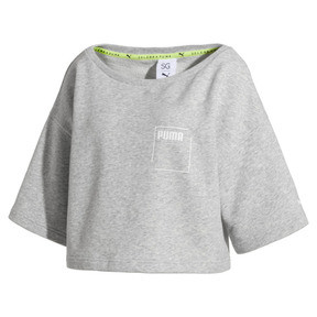 Thumbnail 4 of Sweatshirt court à manches courtes PUMA x SELENA GOMEZ pour femme, Light Gray Heather, medium