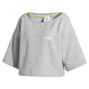 Thumbnail 4 of SG x PUMA ウィメンズ スウェットシャツ, Light Gray Heather, medium-JPN