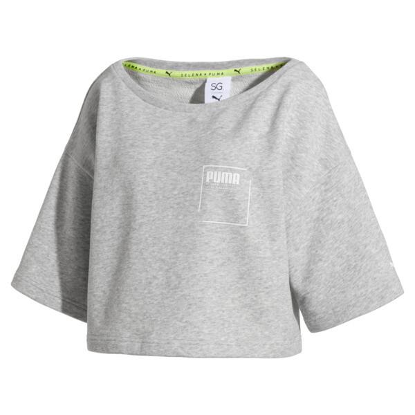 SG x PUMA ウィメンズ スウェットシャツ, Light Gray Heather, large-JPN