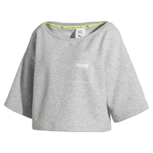 SG x PUMA Sweatshirt, Light Gray Heather, large