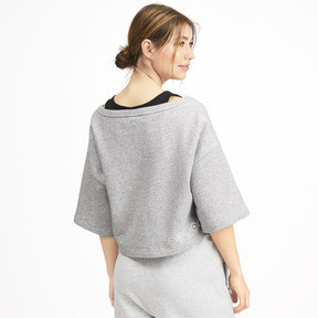 Thumbnail 2 of Sweatshirt court à manches courtes PUMA x SELENA GOMEZ pour femme, Light Gray Heather, medium
