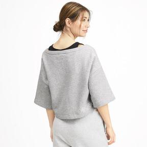 Thumbnail 2 of SG x PUMA ウィメンズ スウェットシャツ, Light Gray Heather, medium-JPN