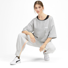 Thumbnail 3 of Sweatshirt court à manches courtes PUMA x SELENA GOMEZ pour femme, Light Gray Heather, medium