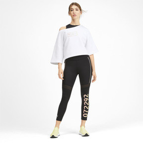 Thumbnail 3 of PUMA x SELENA GOMEZ Damen Bauchfreies Kurzärmliges Sweatshirt, Puma White, medium