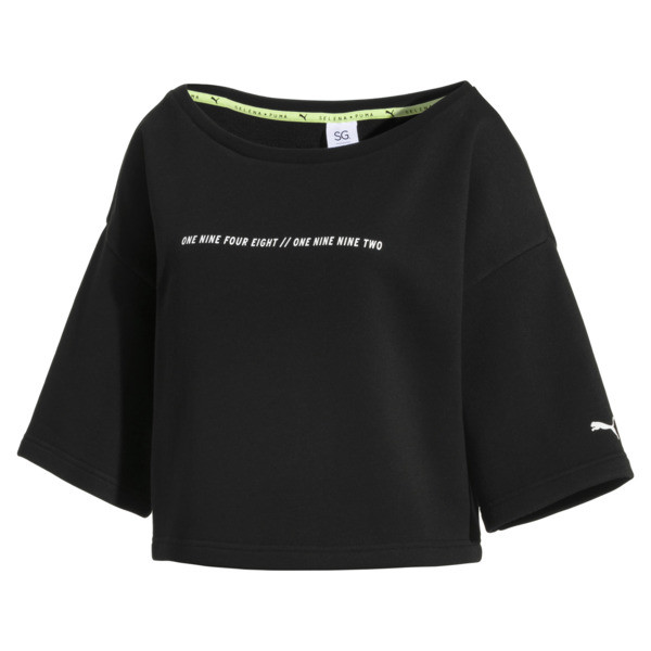 SG x PUMA ウィメンズ スウェットシャツ, Puma Black, large-JPN