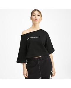 Image Puma PUMA x SELENA GOMEZ Cropped Short Sleeve Women's Sweater