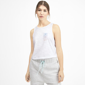 Thumbnail 1 of PUMA x SELENA GOMEZ Cropped Women's Tank Top, Puma White, medium