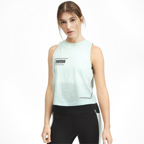 Thumbnail 1 of PUMA x SELENA GOMEZ Cropped Women's Tank Top 2, -Fair Aqua Gradient, medium
