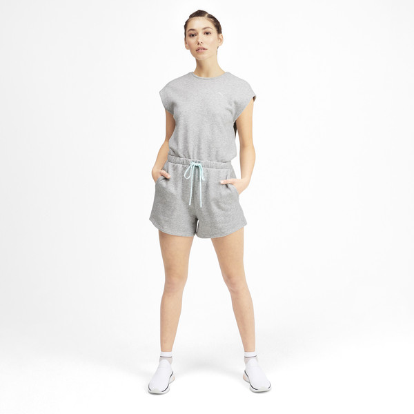 PUMA x SELENA GOMEZ Damen Jumpsuit, Light Gray Heather, large