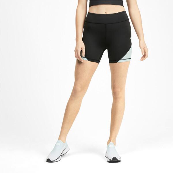 PUMA x SELENA GOMEZ Women's Short Tights, Puma Black-Fair Aqua, large