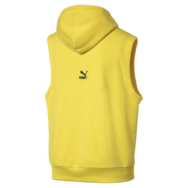 Sleeveless Men's Hoodie, Blazing Yellow, large