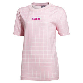 Thumbnail 1 of PUMA x BARBIE Girl's Tee JR, Candy Pink, medium