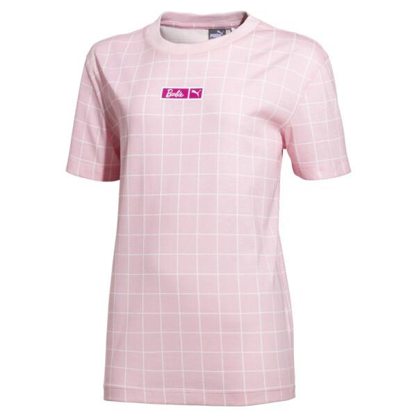 Dziewczęca koszulka PUMA x BARBIE, Candy Pink, obszerny