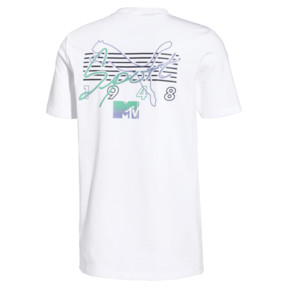 Thumbnail 2 of PUMA x MTV Men's Tee, Puma White, medium