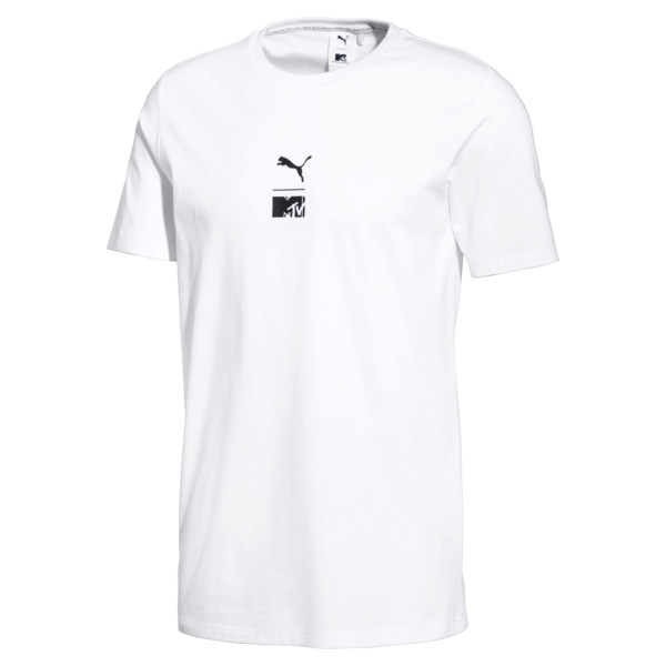 Camiseta PUMA x MTV para hombre, Puma White, grande