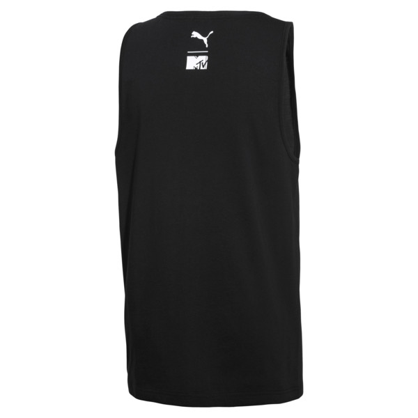 PUMA x MTV Men's Tank Top, Puma Black, large