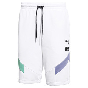Thumbnail 1 of PUMA x MTV MCS Men's Shorts, Puma White, medium