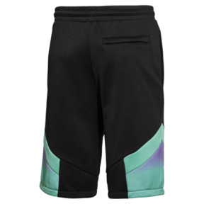 Thumbnail 2 of PUMA x MTV MCS Allover-Print Herren Shorts, Puma Black-AOP, medium
