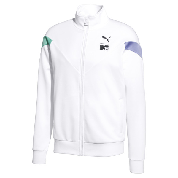 PUMA x MTV MCS Men's Track Top, Puma White, large