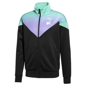Thumbnail 1 of PUMA x MTV MCS All-Over Printed Zip-Up Men's Track Top, Puma Black, medium