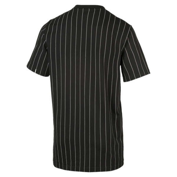 Archive Pinstripe Men's Tee, Puma Black, large