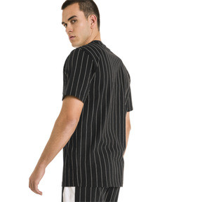 Thumbnail 3 of Archive Pinstripe Men's Tee, Puma Black, medium