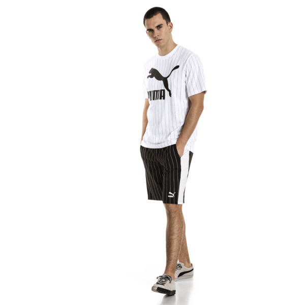 Archive Pinstripe Men's Tee, Puma White, large