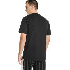 Thumbnail 3 van Archive T-shirt met krijtstreepprint voor mannen, Puma Black, medium