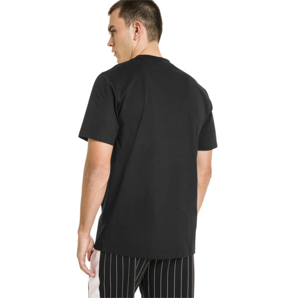 Pinstripe Men's Graphic Tee, Puma Black, large