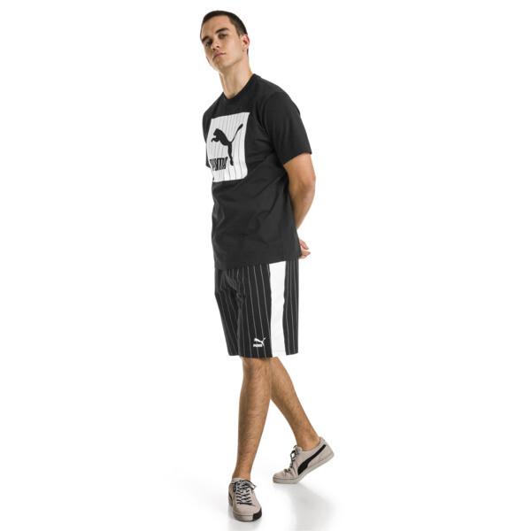 Archive T-shirt met krijtstreepprint voor mannen, Puma Black, large