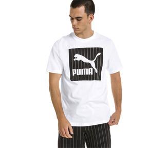 Thumbnail 2 of Archive Pinstripe Graphic Men's Tee, Puma White, medium