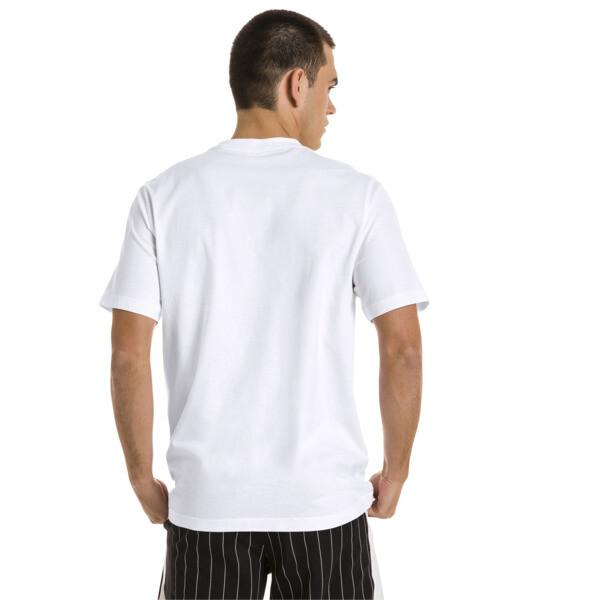 Męska koszulka z grafiką Archive Pinstripe, Puma White, obszerny