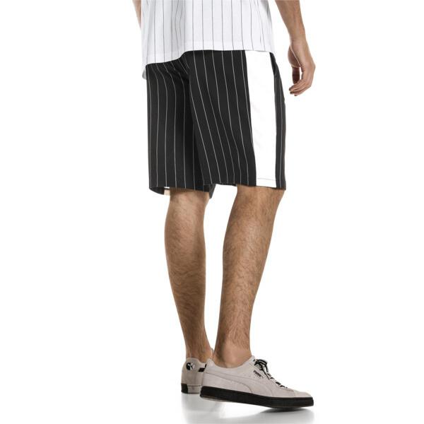 Archive Pinstripe Men's Shorts, Puma Black, large