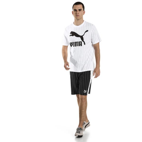 Pinstripe Men's AOP Shorts, Puma Black, large