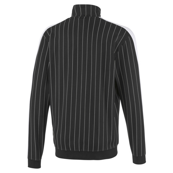 Archive Pinstripe T7 Men's Track Jacket, Cotton Black, large